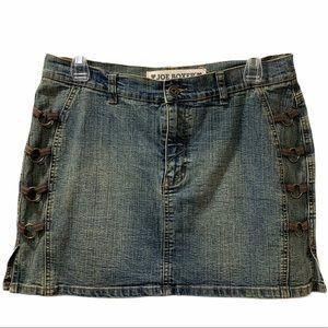 VTG Edgy Denim Skirt- Yesteryear Punk Rock!